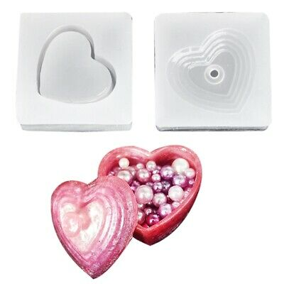 Diy Heart Shapes Silicone Storage Box Mold Resin Mould Jewelry Casting Craf E5Y1