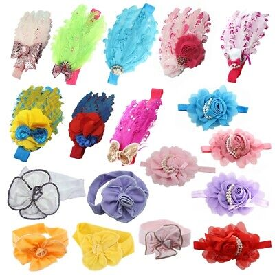Lovely Cotton Girls Baby Headbands,Feather M6L6