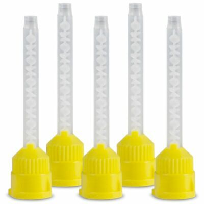 50pcs Yellow Impression Mixing Tips 4.2mm Dental L9Y4