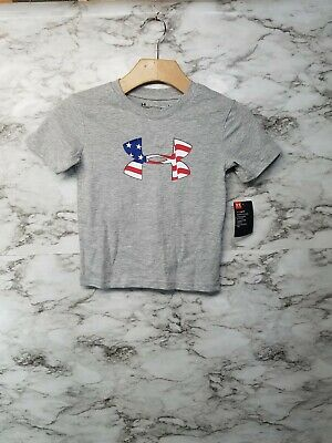 Under Armour Boy/'s Freedom Logo Short Sleeve Tee NWT 2018 Memorial Day July 4th