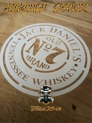 """JACK DANIELS Airbrush Stencil 1 Layer 4.5"""", 5.5"""", 6.5"""", 7.5""""  Pick your size"""