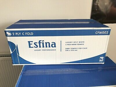 Esfina Luxury C-Fold Hand Towels Paper 2Ply Thicker Better Quality