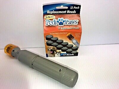 Pedi Paws Platinum Pet Nail Trimmer Fast Easy Gentlew/12 Replacement Heads VG