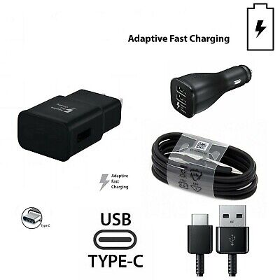 ORIGINAL FAST CHARGER WALL,CAR,TYPE-C CABLE for Samsung galaxyS8,S9,S10,Note lot