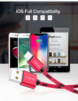 Strong Braided Nylon Fast USB Micro Type C Data Sync Charger Charging Cable US