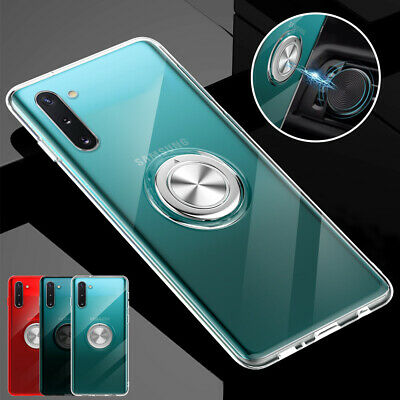 For Samsung Galaxy Note 10 Plus Phone Case Slim Hybrid Ring Holder Stand Cover