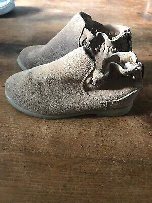 Girls Zara Suede Tan Boots Uk 22 Infant Excellent Condition