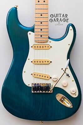 2002 Fender USA Stratocaster Teal Green Nitro guitar - lots of TOP upgrades