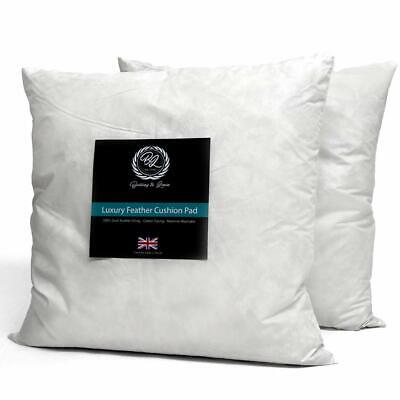 BRITISH HANDMADE Extra Filled Duck Feather Cushion Pad Inner Insert 100% Natural