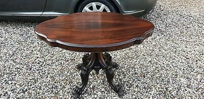 19th Century Victorian Solid Rosewood Breakfast Table STUNNING Wood! Can Deliver