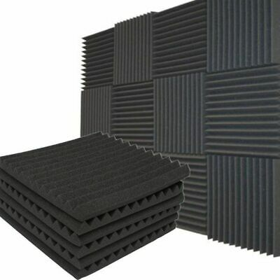 24 Pack Soundproofing Studio Room Foam Wedge Panel Tiles 1 inch X 12 inch X 12