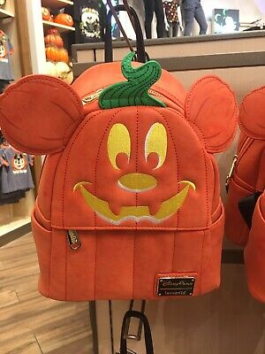Disney Parks Halloween Mickey Mouse Pumpkin Backpack Loungefly New In Hand