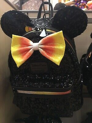 Disney Parks Halloween Minnie Mouse Candy Corn Backpack Loungefly New In Hand