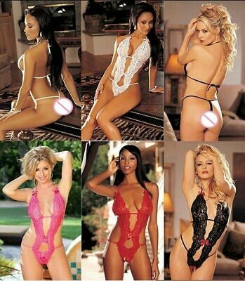 Completo completino intimo sexy lingerie body bodystocking hot da donna pizzo