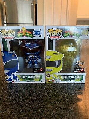 Funko POP! Power Rangers Lot Blue And Yellow