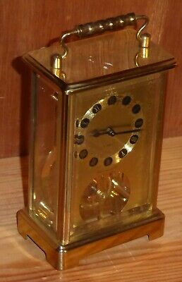 Superb brass and glass 8 day carriage clock by Schatz, W.German manufacture, GWO