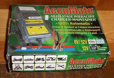AccuMate multi-stage interactive charger/maintainer B3300 6v/12v bike/car