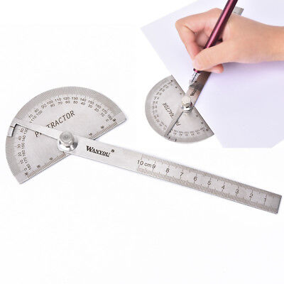 Angle ruler protractor stainless steel ruler 180 degree square woodworking to  T