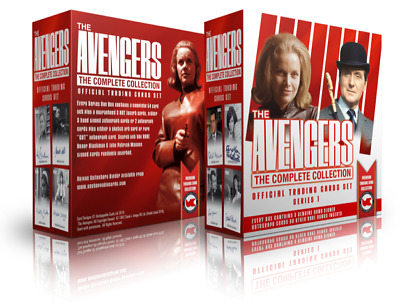 The Avengers Complete Collection Series 1 Trading Cards Box + 2 Dealer Promos