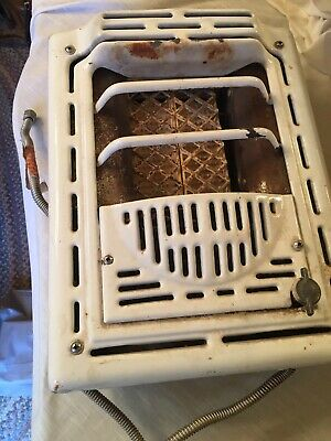 vintage white porcelain cast iron wall space heater