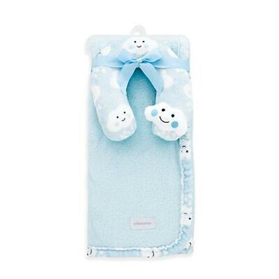 Blue Cloud Boy Baby Blanket & Baby Neck Pillow : Soft Baby Blankets