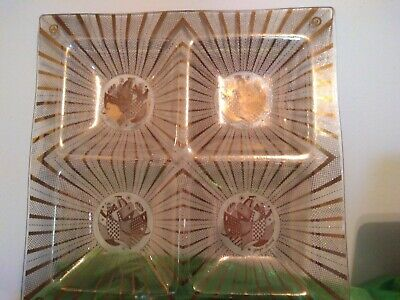 Vintage - Georges Briard Mid Century Modern 4 section Tray