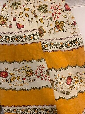 """Vintage Vent du Sud 100% cotton-Made in France Tablecloth Floral  63"""" Round EUC"""
