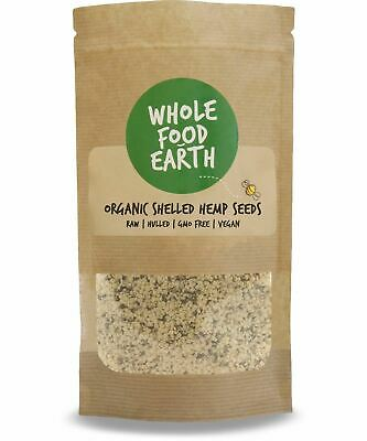 Wholefood Earth: Organic Shelled Hemp Seeds | Raw | Hulled | GMO Free | Vegan