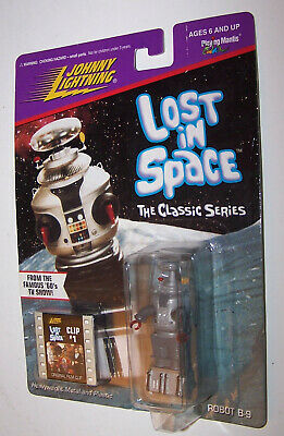 Lost In Space Robot B-9 Johnny Lightning Action Figure & Movie Clip BRAND NEW!