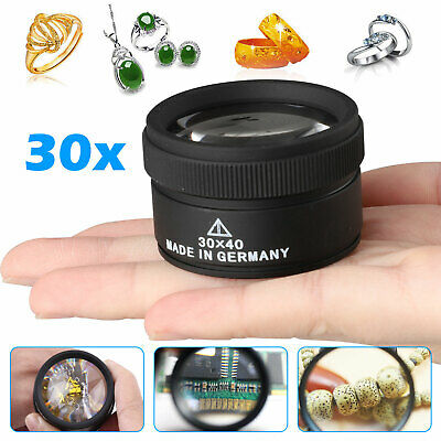 30x 40x Magnifying Glass Eye Loop Optical Magnifier Jewelry Watch Repair Tool US