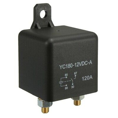 1X(4-Pin DC 12V 120 AMP 120A HEAVY DUTY SPLIT CHARGE RELAY ON/OFF Van Car Bo 1M2