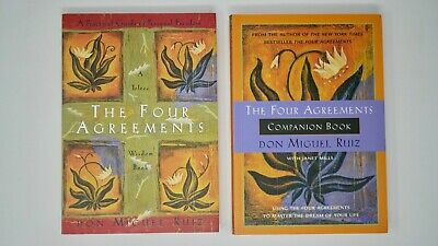 The Four Agreements AND Companion Book - Toltec Wisdom - Don Migueul Ruiz