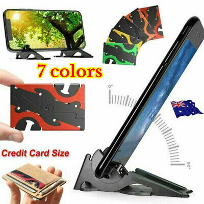 Foldable Card Type Stable Rotation Stand Holder Rigidity Pocket Tripod Phone AU
