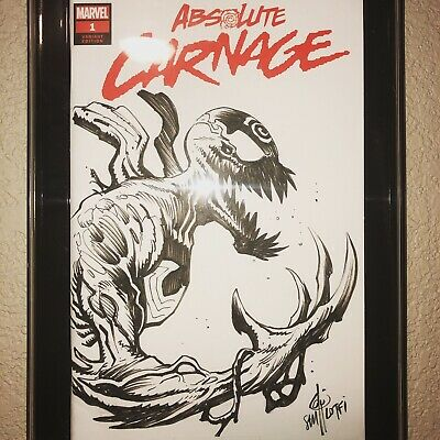 Absolute Carnage #1 Blank Variant,Donny Cates, Sam Lotfi Sketch Marvel Comic
