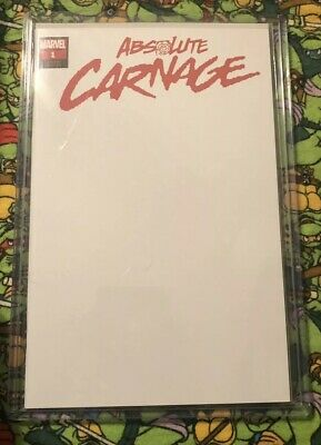 Absolute Carnage Comic #1 Limited Blank Variant Marvel Comics 2019 Donny Cates