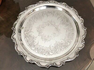 """WEBSTER WILCOX International Silver Co. Approx.12 3/4""""Serving Tray"""