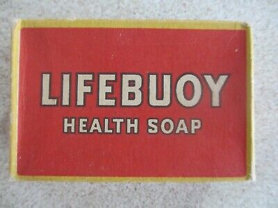 original boxed unopened 1940s packet of LIFEBUOY MEDICATED HEALTH SOAP