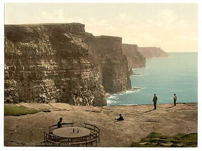 """8"""" x 10"""" 1890 Photo Cliffs at Moher. County Claire"""