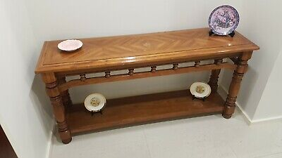 Antique Hall Table Australian Ornate Timber Top