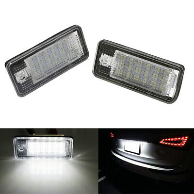 2xLED Number License Plate Lumière 18SMD Canbus No Error For Audi A3 A4 S4 B6 B7