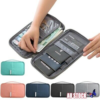 Family Travel Organiser Passport Document Holder Cards Tickets Wallet Pouch