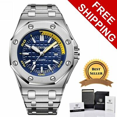 Men's Swiss Made Classic Royal Oak Homage Watch Stainless Steel Quartz Movement