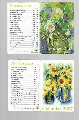 Fold out calendar's. 2003 and 2004