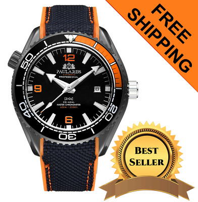 Men's Swiss Made SeaMaster Homage Watch Self Wind Automatic With Rotating Bezel