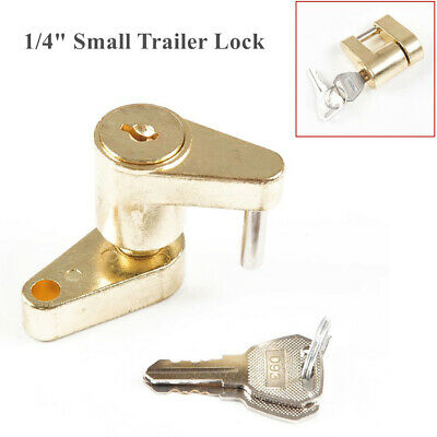 "1/4"" Small Trailer Lock Tow Hitch Ball Bar Trailer Coupler Universal Anti Theft"