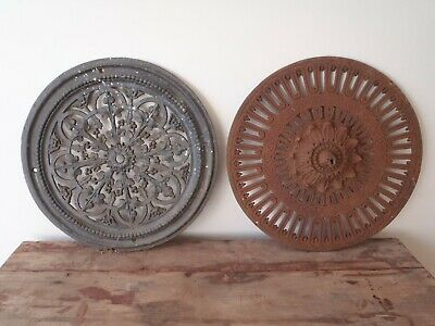 Beautiful Antique Victorian cast iron ceiling roses