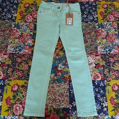 Next Age 9 Bnwt Girls Mint Green Bella Skinny Fit Jeans