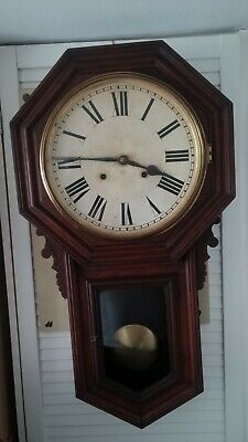 Vintage Ansonia  8 Day Wall Clock Made In New York - Circa 1882
