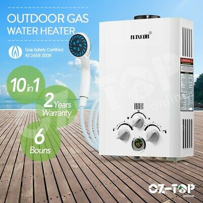 MAXKON Portable Gas Hot Water Heater Outdoor 4WD LPG Instant Shower Camping