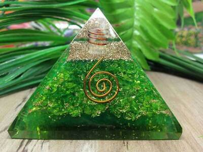LARGE LG-70mm ORGONITE GREEN AVENTURINE HEART CHAKRA EMF Protection Feng Shui
